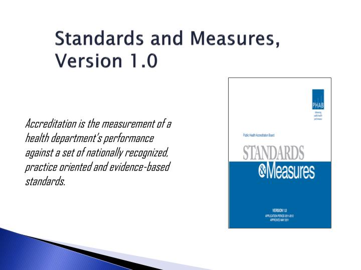 Standards and Measures, Version 1.0