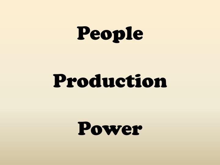 People production power