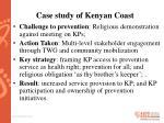 case study of kenyan coast