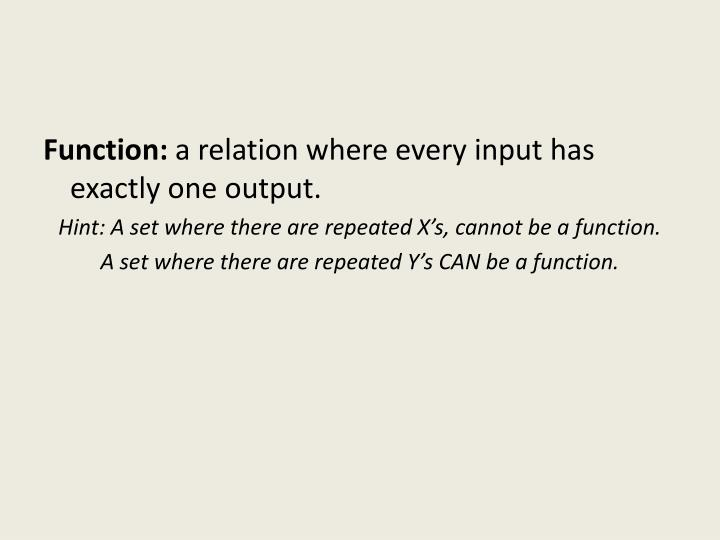 Function: