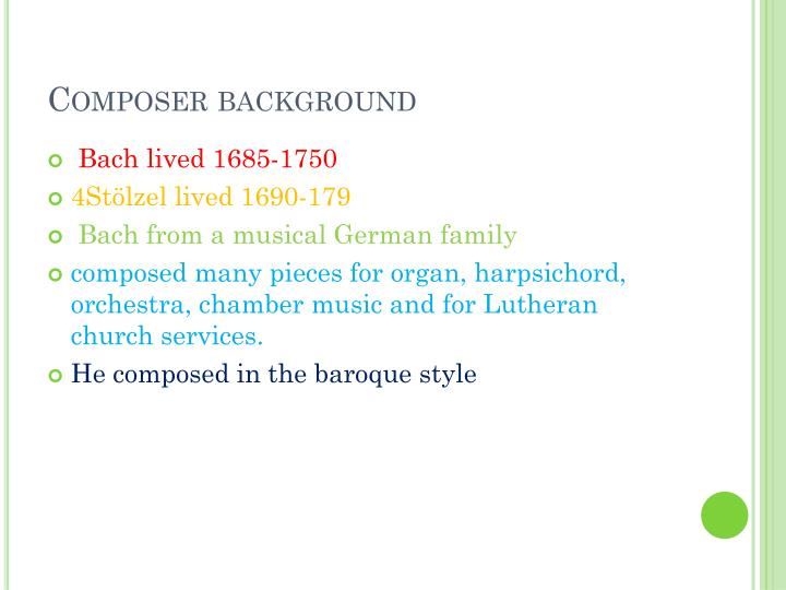 Composer background