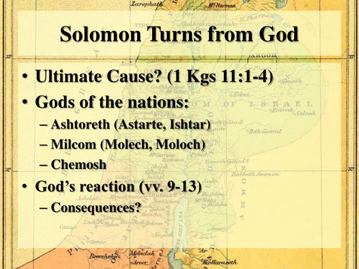 Solomon Turns from God
