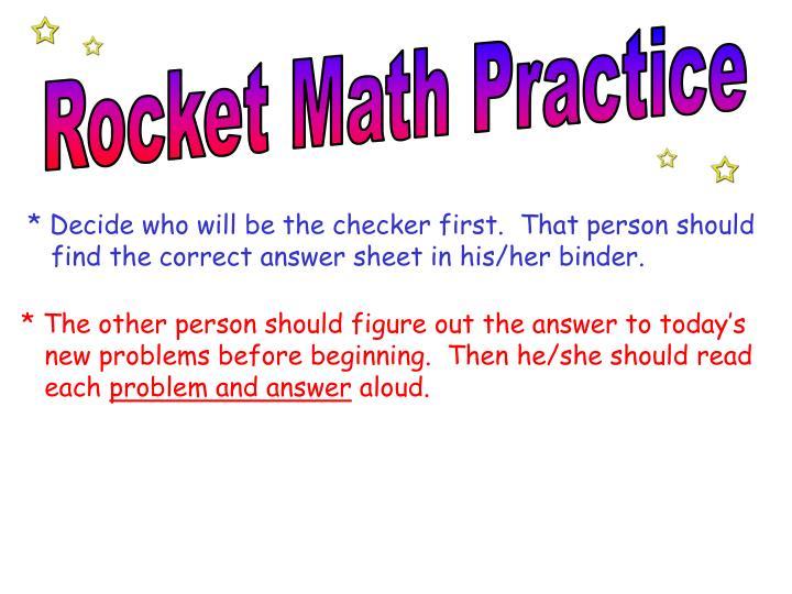 Rocket Math Practice