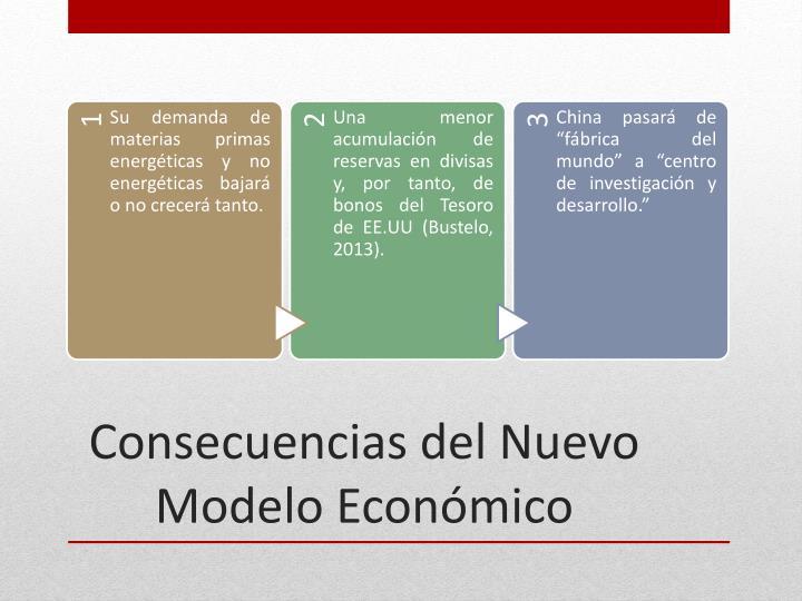 Consecuencias del Nuevo Modelo Económico