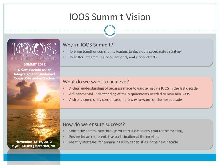 IOOS Summit Vision