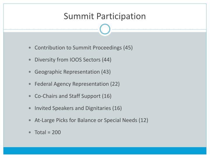 Summit Participation