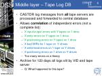 middle layer tape log db