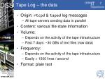 tape log the data