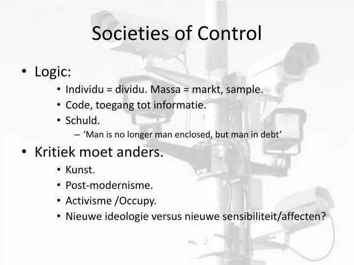 Societies of Control