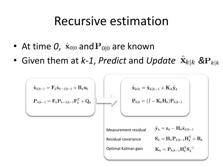 Recursive estimation