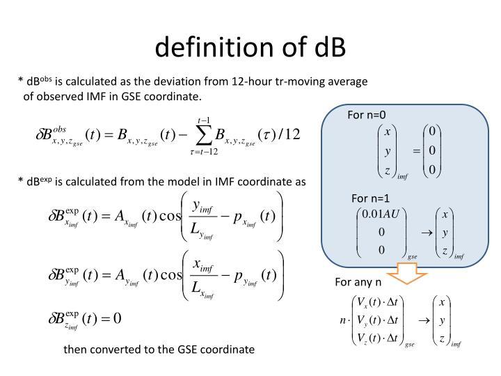 definition of dB