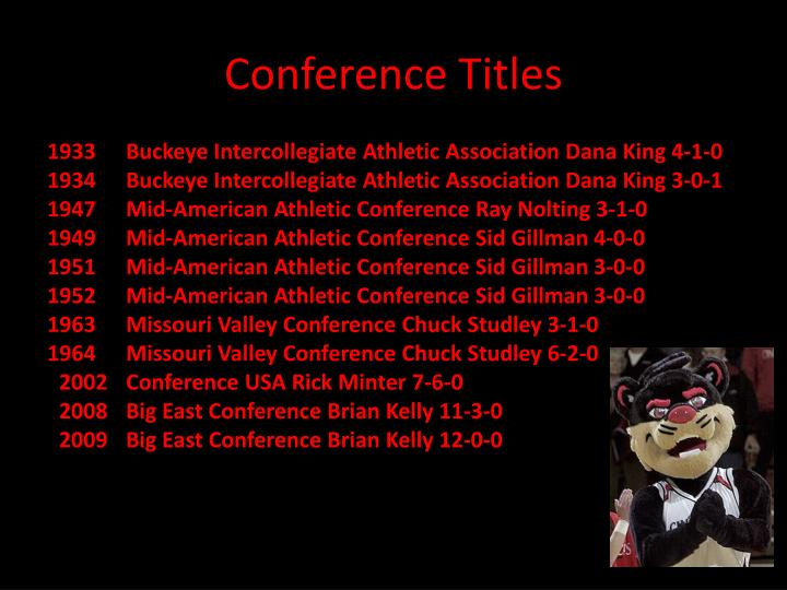 Conference Titles