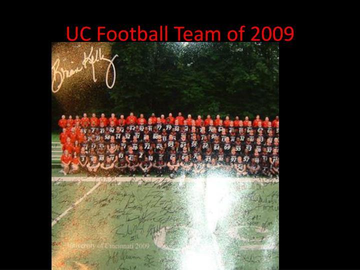 UC Football Team of 2009