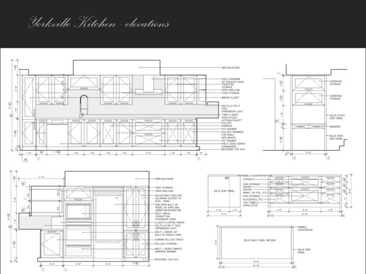 Yorkville Kitchen - elevations