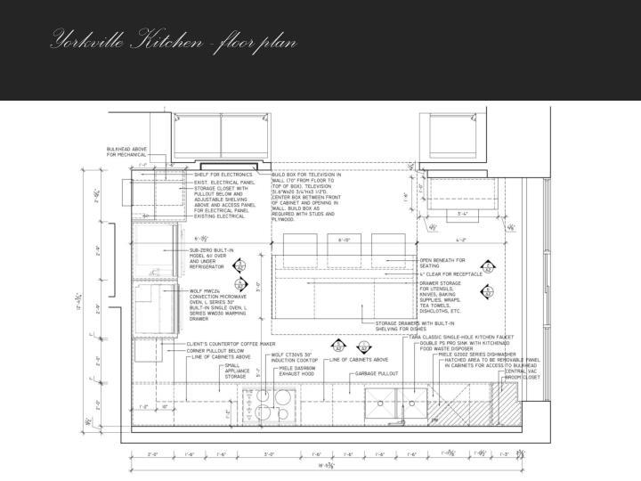 Yorkville Kitchen - floor plan