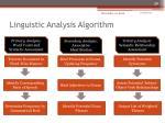 linguistic analysis algorithm