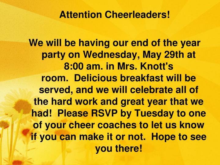Attention Cheerleaders!