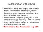 collaboration with others