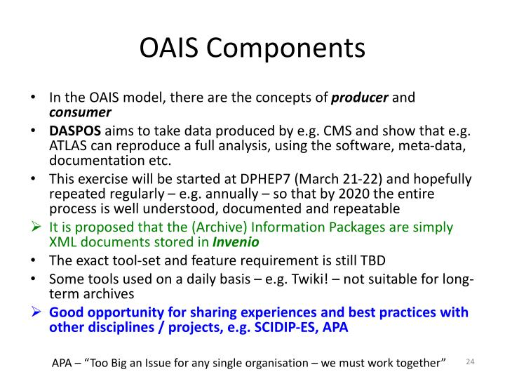 OAIS Components