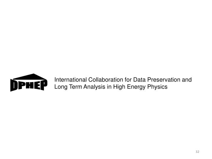 International Collaboration for Data Preservation and