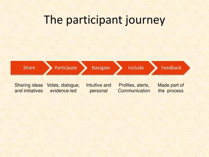 The participant journey