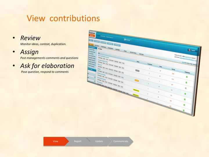 View  contributions