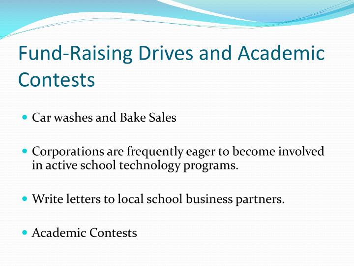 Fund-Raising Drives and Academic Contests