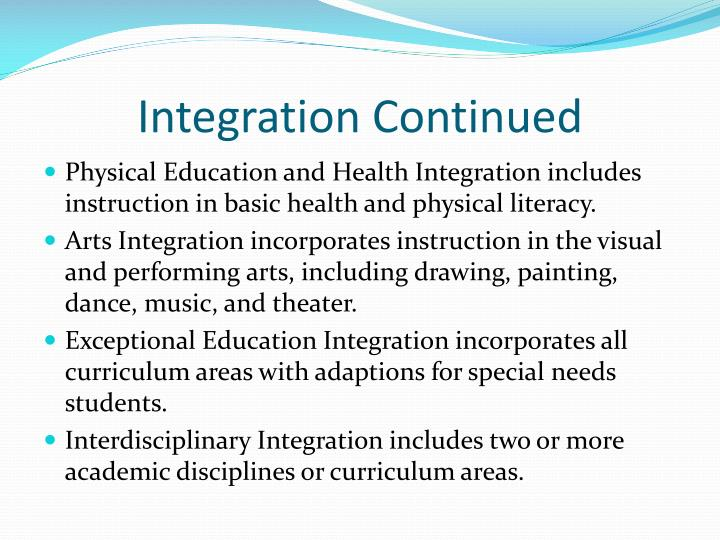 Integration Continued