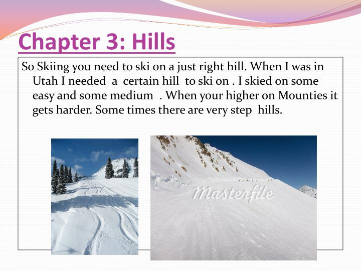 Chapter 3: Hills