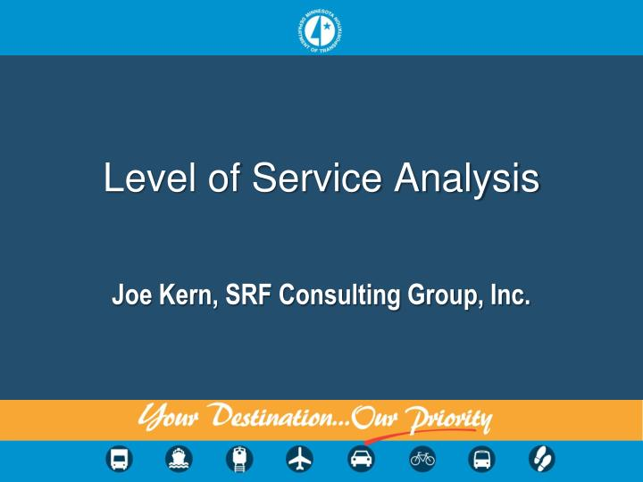 level of service analysis