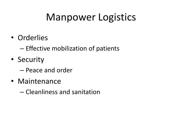 Manpower Logistics