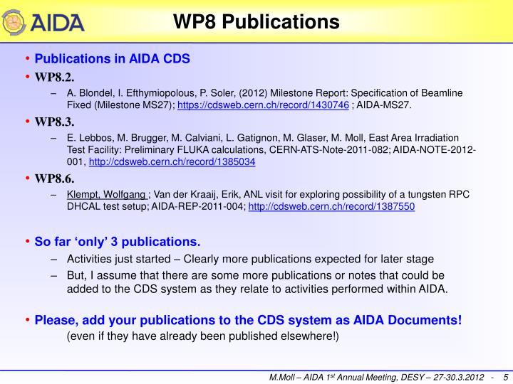 WP8 Publications