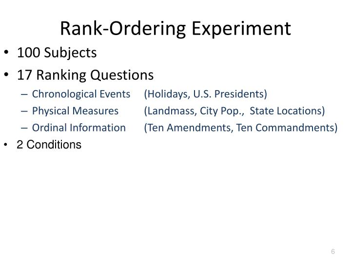 Rank-Ordering Experiment