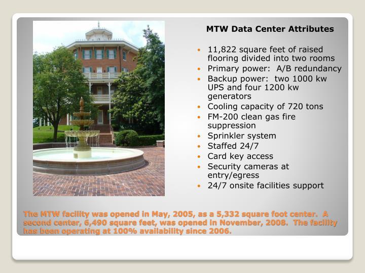 MTW Data Center Attributes
