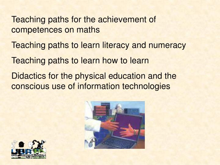 Teaching paths for the achievement of competences on maths
