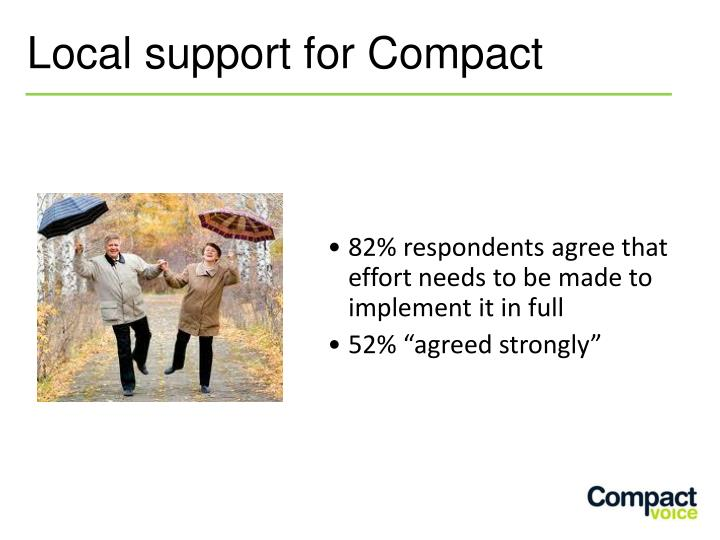 Local support for Compact