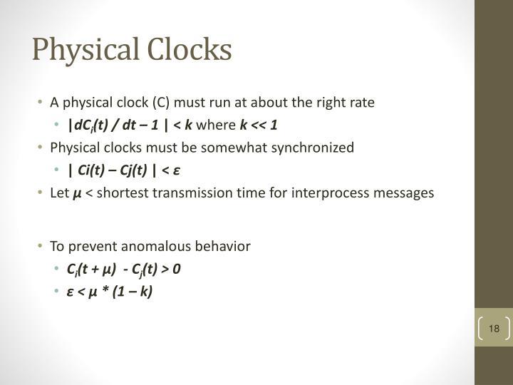 Physical Clocks