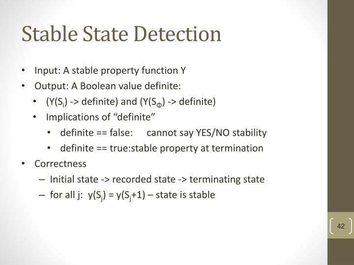 Stable State Detection