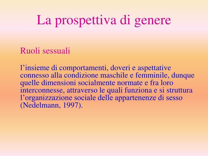 La prospettiva di genere