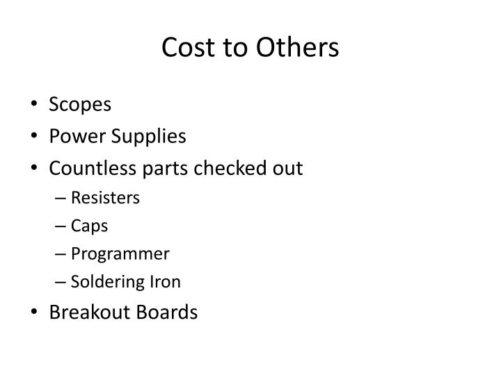 Cost to Others