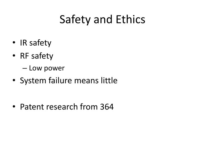 Safety and Ethics