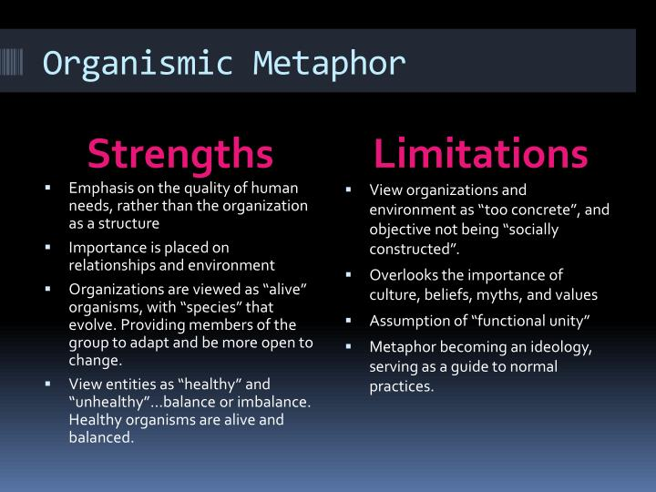 Organismic Metaphor