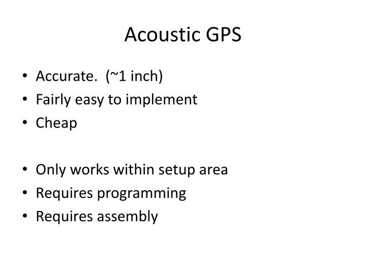 Acoustic GPS