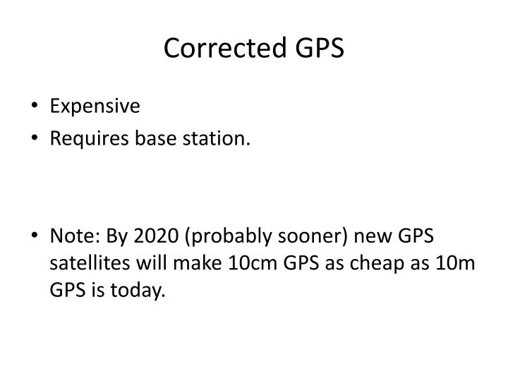 Corrected GPS