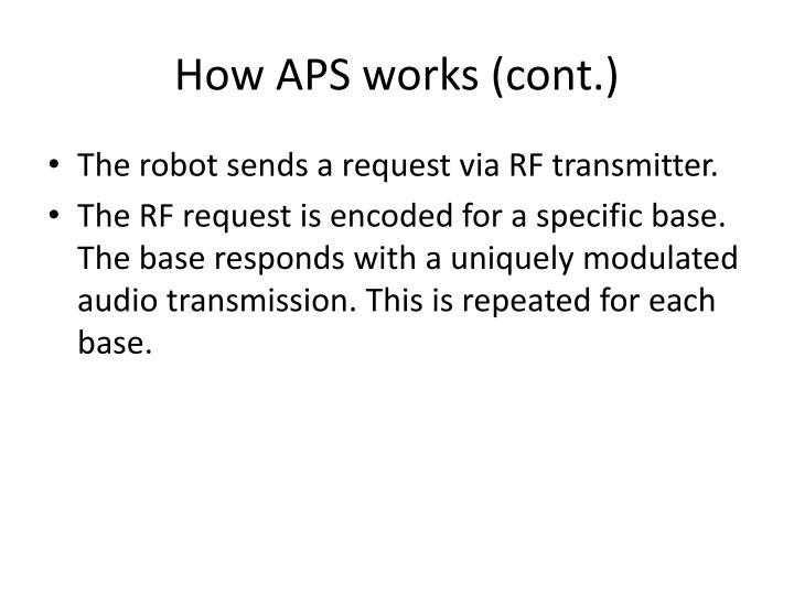 How APS works (cont.)