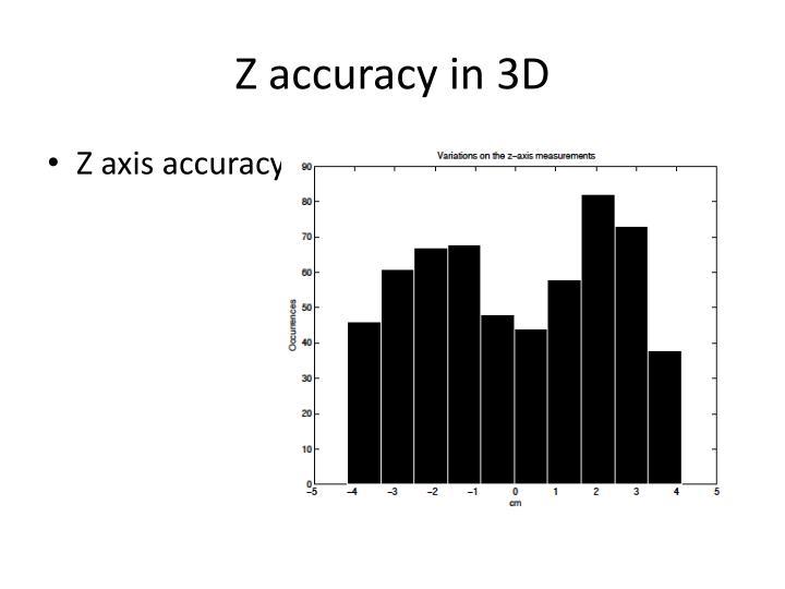 Z accuracy in 3D