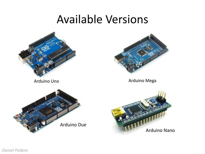 Available Versions