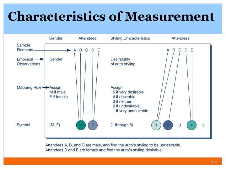 Characteristics of Measurement
