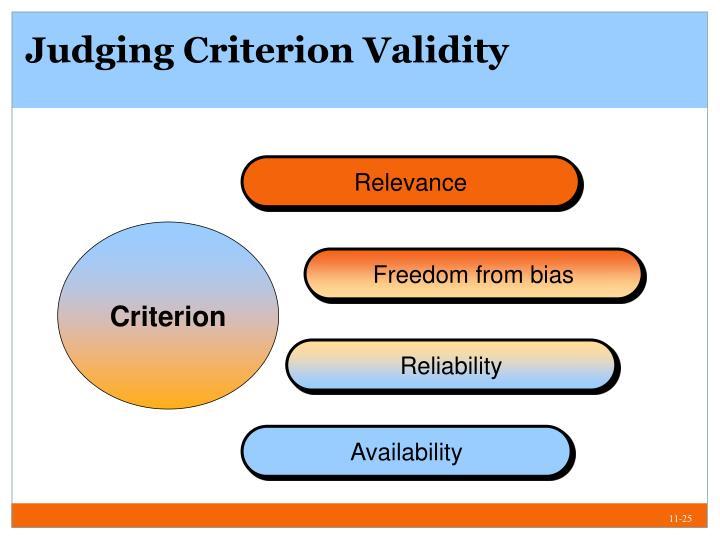 Judging Criterion Validity