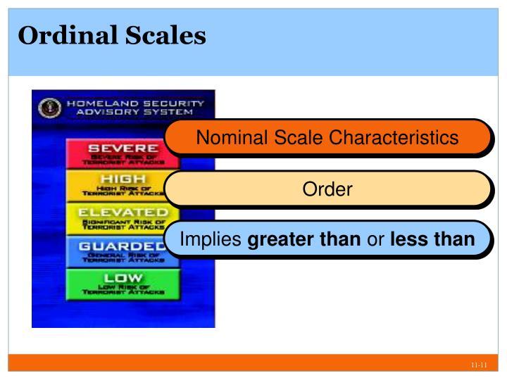 Ordinal Scales